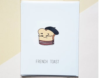 Je ne c'est pas French Toast Greeting Card