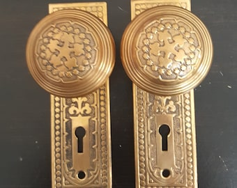 Vintage Cast Bronze Decorative Interior Doorset 530656