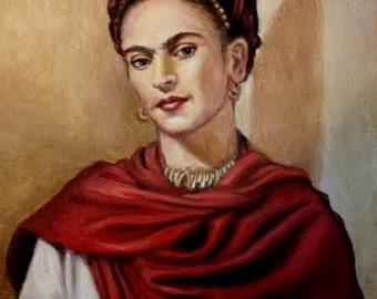 Print - Artist Frida Kahlo Portrait