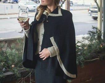 Amazing War Bride  Four Piece Knit Set Skirt Jacket Cape and Hat
