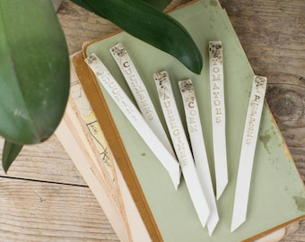 Herb Markers, Vegetable Sticks, Garden Labels,Plant Labels, Gardening Gifts, Plant Name Stakes, Plant Markers, Herb Labels, Garden Markers