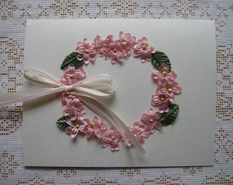 Blank Floral Wreath Card