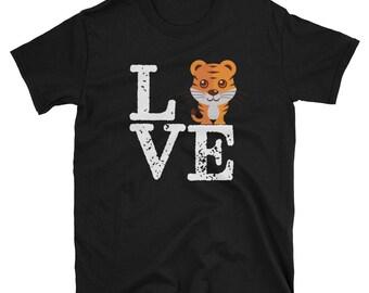 I Love Tigers Gift Cute TShirt