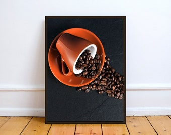 Coffee Cup Beans,Photo,Digital,Download,Decor,Home,Office,,Gift,Baby Shower,Gift,Cup,