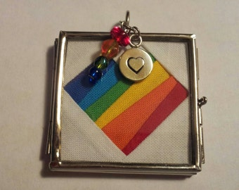 Rainbow Heart #GLSEN Necklace