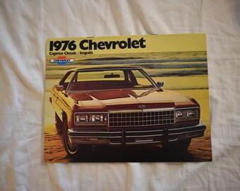 Chevrolet Caprice and Impala 1976 Original Sales Brochure