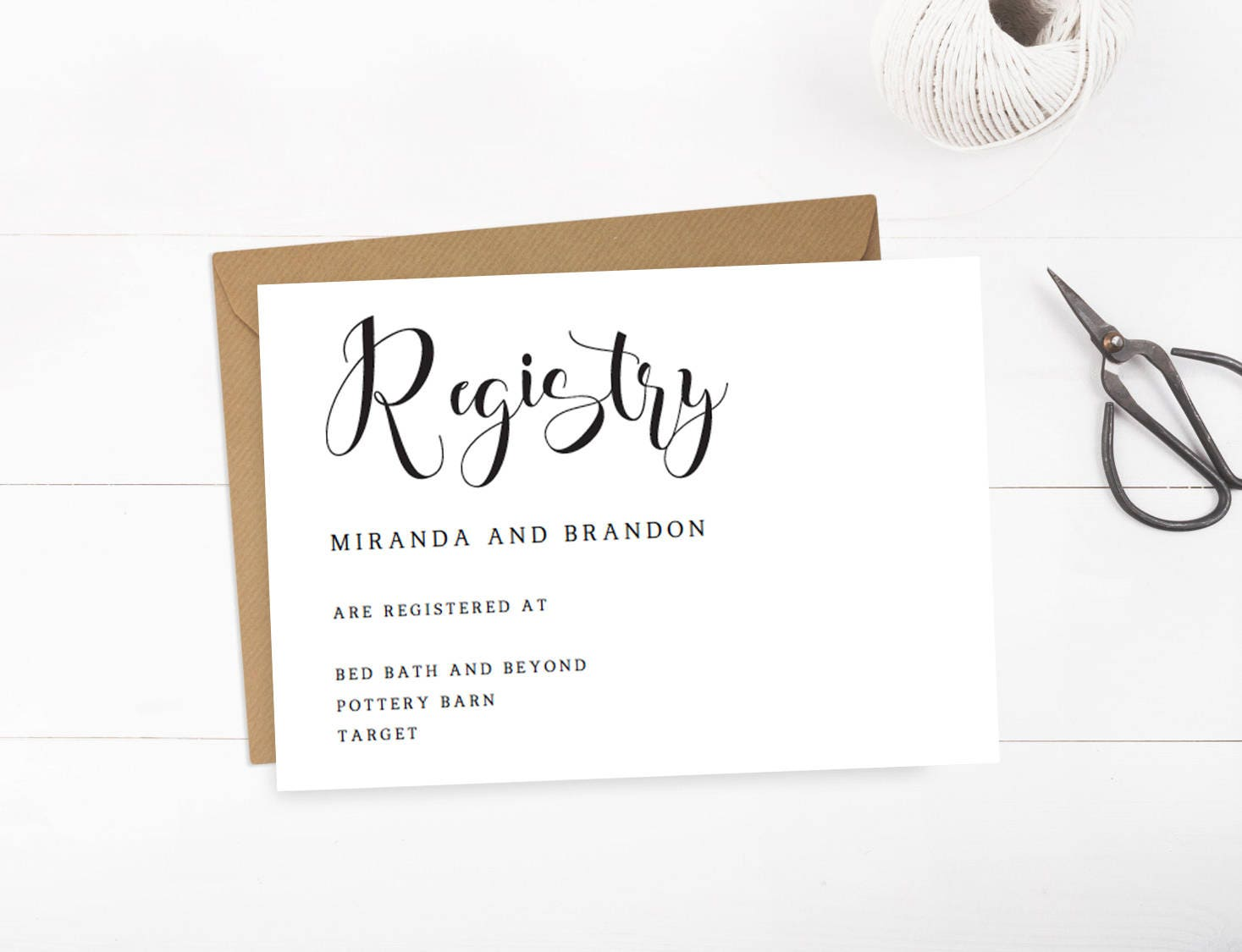 How Many Gifts To Register For Wedding: Wedding Registry Cards Baby Registry Card Gift Registry Card