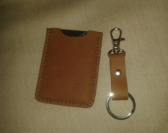 Handmade Leather Cardholder And Keyring