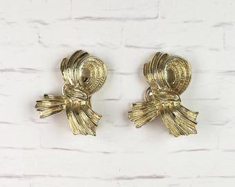 Tassel Earrings | Gold Tone | Clip On | Vintage
