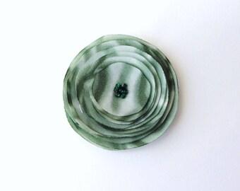 Handmade Green Fabric Poppy Embellishment