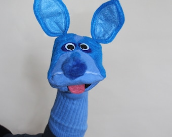 Blue Pitbull Sock Puppet