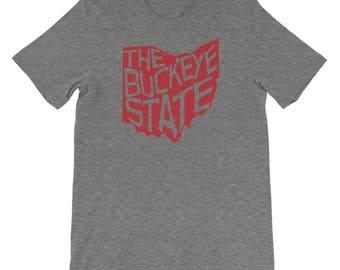 Ohio T Shirt - The Buckeye State (Red)