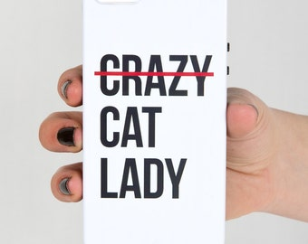 SALE - Crazy Cat Lady Protective iPhone 5/5S Phone Case, Cat Phone Case, Cat Lover iPhone Case