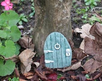 Woodland Green Fairy Door - Stone Garden Ornament - Fairy Door - Cornwall Stoneware - Fairy Garden - Gift Idea