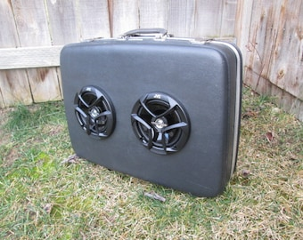 Boombox, Vintage AirWay Suitcase with Bluetooth