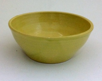 Yellow Serving, Mixing  Bowl Wheel Thrown Stoneware Pottery Ready to Ship