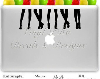 Fashion Style Women Shoes Makeup Artist Salon Apparel Stiletto Decal for Macbook