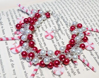 Beaded Candy Cane Bracelet