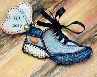 Personalized Marathon / 5k / 10k / Half Marathon / Running / Runner Shoe  Keepsake Custom Ornament