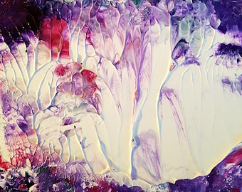 Purple Cloud Abstract Original Acrylic Painting