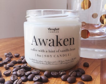 Coffee + Vanilla Bean | Soy Candle | Non-GMO | Non-Toxic | Handmade with love | Double Wicked | 40+ Hour Burn Time