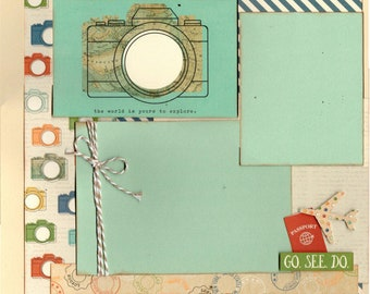 The World is Yours to Explore - Go Somewhere New -  Travel 2 page scrapbooking layout kit
