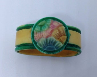 Art Deco Celluloid scarf ring