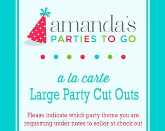 Party Cut Outs | Printable A la Carte Party Single | Amanda's Parties To Go
