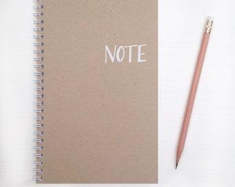 kraft foil notebook - note