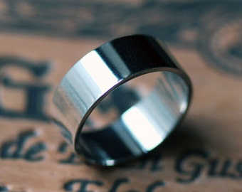 Palladium wedding band, mens wedding band palladium, palladium ring, wide wedding band, his and his, ethical ring, wedding ring men, custom