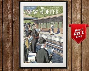 The New Yorker Cover Art (1942), New Yorker Wall Art, New Yorker Poster, New Yorker Print, New Yorker Decor, The New Yorker Illustration