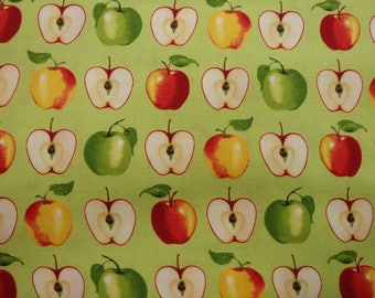Green Apples, A Day on the Farm, Apple Farm Fabric, Apple Fabric, Quilting Cotton, 100% Cotton, by the half yard