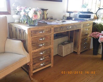 Aged/Salvaged Wood Desk