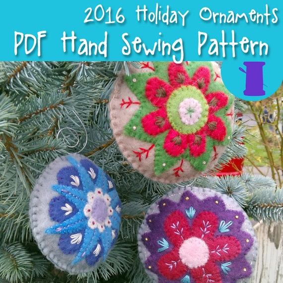 Embroidered Tag Ornaments
