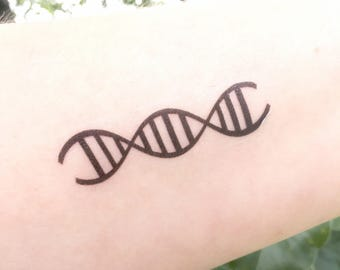DNA Temporary Tattoo, DNA Replication, Double Helix, Genetics Gift, Science, Microbiology, Cell Biology, Gift for Her Gift for Him, Molecule