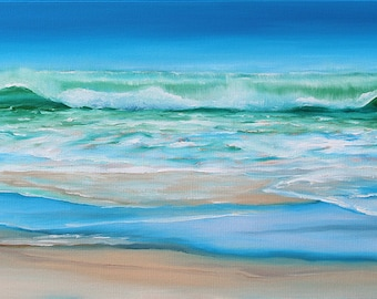 GICLEE Fine Art Reproduction by Daina Scarola on fine art paper - Lawrencetown Beach (summer surf)