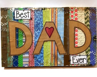 Father's Day Gift, Dad Gift, Dad Sign, Best Dad Ever, Father's Day Sign