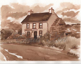 Irish Cottages and houses-Been Bawn