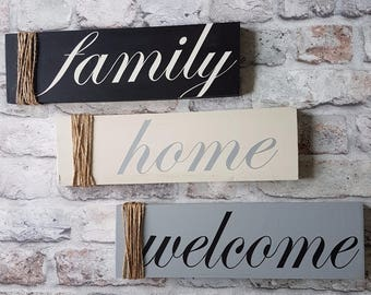 welcome wood sign quote - memories, gallery wall, family, wood sign, home