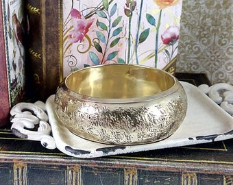 Vintage 1980's Brass Bangle