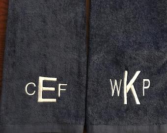 Monogram golf towel, Golf Towel, Personalized Golf Towel, Personalized Golf Gift, Birthday Gift Golfer