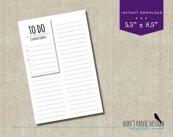 Fun Printable Weekly Appoinment Planner Half Page - Daily Planner Sheet - Meny Planner - Grocery List Planner - Task Planner