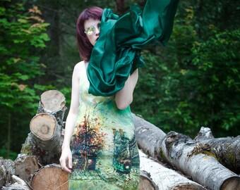 Felted dress 17022
