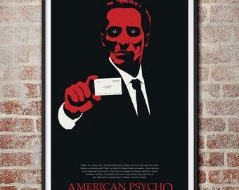 American Psycho: There is an idea of a Patrick Bateman Minimalist Poster