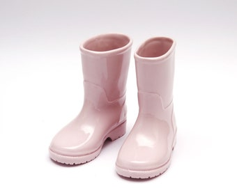 Handmade Pink porcelain Boots: These boots aren't made for walking