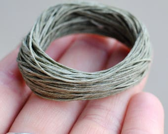 Waxed Linen Cord / 10 Yards / Irish Waxed Linen / Olive Drab Green / 4 Ply / Macrame Cord