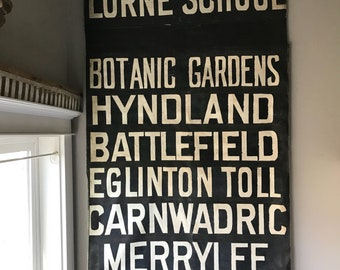 Large Scottish Bus Roll Sign