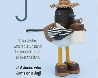 a junco who jams on a jug