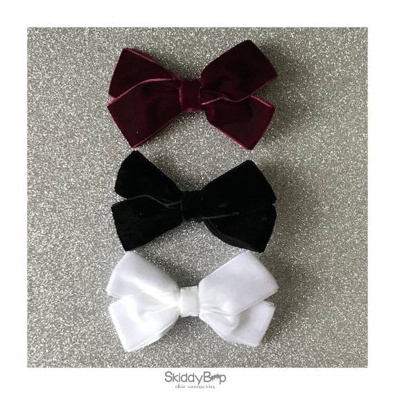 3 Pack - Luxe Velvet Large Bow