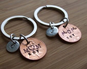 Personalized Penny Key Chain, Good Luck Penny, Personalized Key Chain, Accessories, Gift for Mom, Gift Under 10